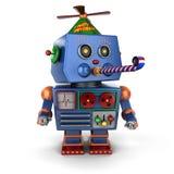 Happy Birthday toy robot Royalty Free Stock Photo