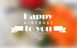 Happy Birthday Typography Background Stock Photos
