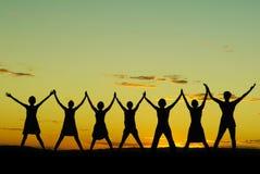 Happy celebrating women Stock Photo