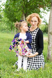 Happy country mother and daughter Stock Photography