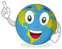 Happy Earth Character Stock Images