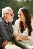 Happy father and beautiful daughter bonding Stock Photo