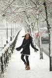 Happy girl in winter season Royalty Free Stock Photo
