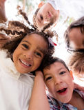Happy group of kids Royalty Free Stock Image