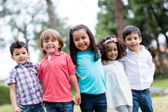 Happy group of kids Stock Photography