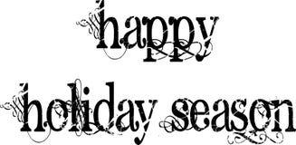 Happy Holiday Season Words Stock Photography