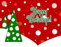 Happy Holidays Card Royalty Free Stock Image
