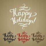 Happy holidays craft Stock Image