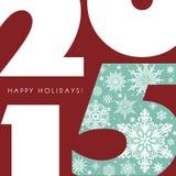 Happy Holidays 2015 Stock Photography