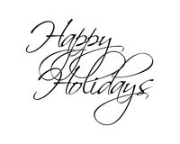Happy Holidays Type Stock Photography
