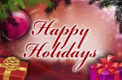 Happy holidays wishes Royalty Free Stock Photos