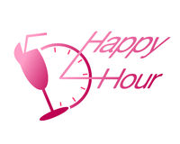 Happy hour drink at bar vector Stock Images