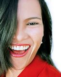 Happy laughing beauty Stock Photography