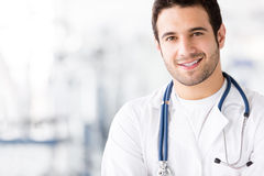 Happy male doctor Royalty Free Stock Photos