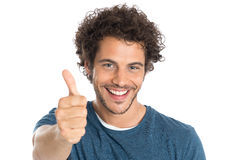 Happy Man Showing Thumb Up Stock Images