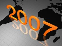HAPPY NEW YEAR 2007 Stock Photography