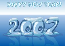 Happy new year 2007, blue. Royalty Free Stock Image