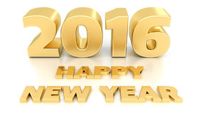 Happy New Year 2016.  3D design Royalty Free Stock Photos