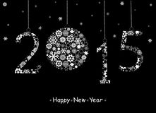 2015 Happy New Year greeting card Royalty Free Stock Photos