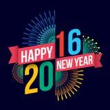 Happy new year 2016 Stock Photos