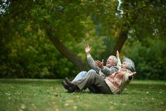 Happy old people Royalty Free Stock Image