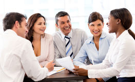 Happy people in a business meeting Royalty Free Stock Photography