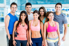Happy people at the gym Stock Photos