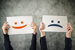 Happy and sad face. Stock Photo