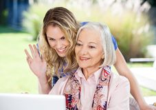 Happy Senior Woman And Granddaughter Video Stock Photo