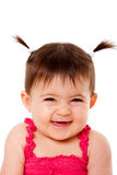 Happy shy laughing baby Royalty Free Stock Photography