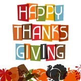 Happy Thanksgiving Day card design with holiday Royalty Free Stock Photo