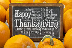 Happy Thanksgiving word cloud Royalty Free Stock Image