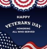 Happy Veterans Day Stock Images