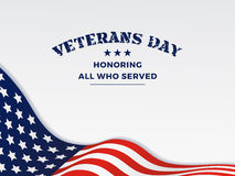 Happy Veterans Day Royalty Free Stock Photography