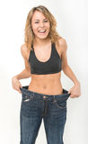 Happy woman after weight loss Royalty Free Stock Image