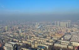 Harbin in smog, China Stock Image