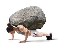 Hard workout Royalty Free Stock Image