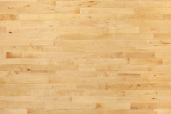 Hardwood basketball court floor viewed from above Stock Photos
