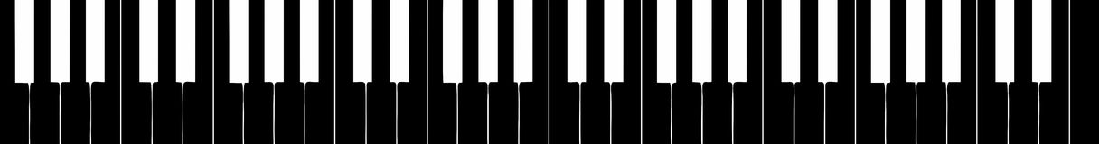 Harpsichord keyboard silhouette Royalty Free Stock Images