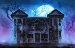 Haunted horror house. Royalty Free Stock Photos