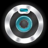 Haut-parleur métallique frais avec la maille d'hexagone Photo stock