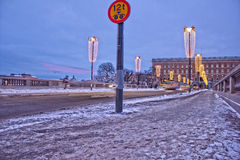 HDR of a street in Stockholm Royalty Free Stock Photos