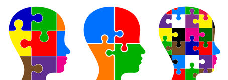 Head puzzle Royalty Free Stock Image