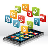 Health care and Medical Apps Stock Photos