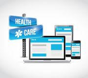 Health care technology electronics Stock Images