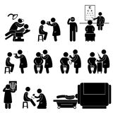 Health Medical Body Check Up Test Pictogram Royalty Free Stock Image
