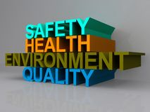 Health and safety sign Stock Photos