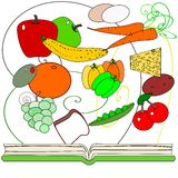 Healthy cooking cookbook Royalty Free Stock Photos