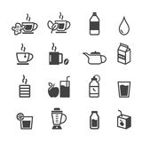 Healthy drink icons Royalty Free Stock Photography
