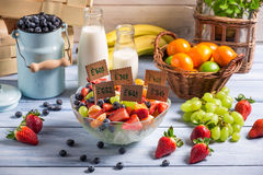 Healthy fruit salad with no preservatives Stock Images